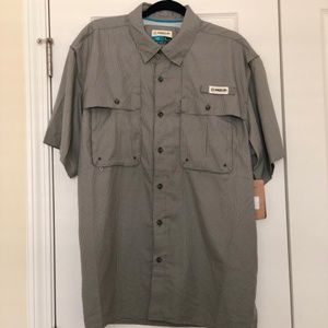 NWT! Men's L Relaxed Fit Fishing Shirt! UPF 50